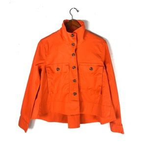 Cabi resort jacket in tiger lily orange